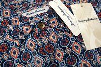 NWT $150 Tommy Bahama SS Navy Blue Pink Geometric Shirt Mens XLT 3XL Tulum Tiles