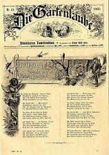 Orig. title page M. Decorative Graphics & Hunting-Poem by Ludwig Gang HOFer c.1900