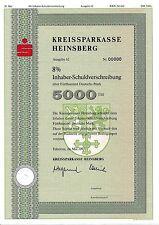 Kreissparkasse Heinsberg IHS Bank Anleihe 1992 Erkelenz Sparkasse NRW Wappen