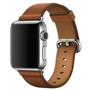 Genuine Apple Classic Buckle Leather Watch Band Strap 38mm / 40mm - Saddle Brown