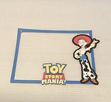 Disney Jessie From Toy Story Mania printed scrapbook page die cut frame