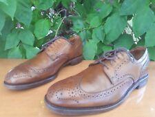 Allen Edmonds Madison Park Men's Brown Leather Wingtip Derby Shoes Size 9.5 D