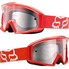 FOX MAIN MOTOCROSS MX GOGGLES RED clear tear-off enduro mtb bmx bike new