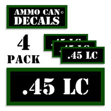 ".45 LC Ammo Can 4x Labels Ammunition Case 3""x1.15"" stickers decals 4 pack"