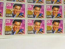 Elvis Presley Themed US Postage Stamps, Full Sheet 29 Cent Stamps