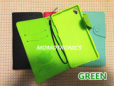 SONY Xperia Z1 L39H Leather Wallet Flip stand Cover Case with card slot Green