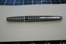 RARE ALL Cross-hatch PILOT ELite  Fountain Pen 18K-750 Black Silver  F