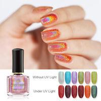 BORN PRETTY 6ml Light Sensitive Holo Nail Polish Shimmer Glitter Nail Varnish