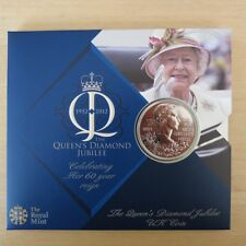 2012 HM Queen Elizabeth II Diamond Jubilee £5 Pounds Coin Royal Mint