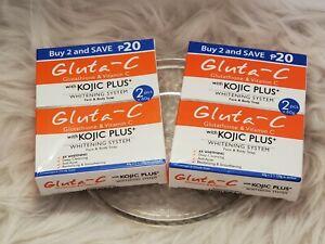 2x  GlutaC with Kojic Plus Soap 4x Skin whitening) 120g 🇺🇸free sf