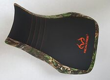 Honda rancher trx 420 REALTREE seat cover blk grip/camo logo fits up to 2014