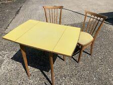 Vintage Formica Drop Leaf Table / 2 Chair Set - Excellent Condition