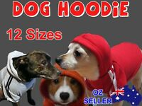 DOG JUMPER SWEATER HOODIE CLOTHING FOR SMALL DOGS IN NON ADIDOG COTTON 14 SIZES
