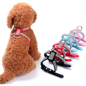 Adjustable Small Pet Dog Harness Collar for Yorkie Teacup Mini Puppy Chihuahua