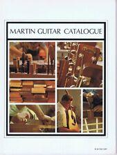 ORIGINAL Vintage 1970 Martin Guitar Catalogue Catalog