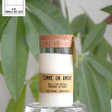 Bougie Parfumée à la Vanille - Comme un Amour - Artisanale fabriquée en France