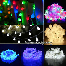 Connectable 10M 100 LED Mains Plugin Berry Balls Fairy String Lights Garden Tree