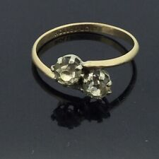 Rolled Gold Ring Paste Stones Antique Edwardian Lovely Hallmarked Circa1905