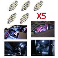 5 x Bombillas festoon led con iluminación blanco frío para Bmw E60 para interior