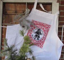 Apron, Christmas apron, Santa apron, chef apron, white apron, kitchen apron