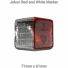 Abbey Caravan 71mm x 61mm Red & White Side Marker light Piper/Maverick/GTS Vogue
