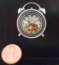NEW! DOLLHOUSE MINIATURE~RETRO BELLMAN HAND DESIGNED WALL CLOCK Reg.$30