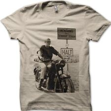 The Great Escape Steve McQueen Biker Motorcycle printed t-shirt 9056