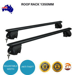 Roof Rack 1350mm Lockable Volkswagen Touareg BMW X5 Skoda Fabia Cross Bar Black