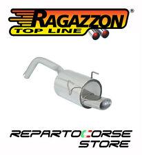RAGAZZON SCARICO TERMINALE OVALE 115x70mm FIAT 500 (312) 1.2 51kW 69CV 2007->