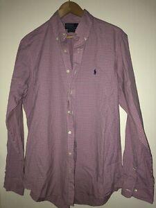 Polo RALPH LAUREN Custom Fit Dress Shirt Hemd Oberhemd Herren Kariert 42 16,5