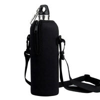 1L Water Bottle Carrier Insulated Cover Case Pouch Bag Holder Shoulder Straps 1X