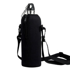 1L Water Bottle Carrier Insulated Cover Case Pouch Bag Holder Shoulder Straps*