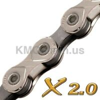 KMC X10-93 Bicycle MTB Road Bike Cycle 10 Speed Chain Silver Shimano Campagnolo