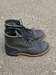"Red Wing 6"" Iron Ranger Lug Boots Men's Size 7.5 D Charcoal Rough & Tough 8086"