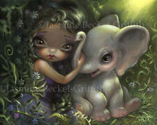Jasmine Becket-Griffith art BIG print SIGNED goth Princess with a Maine Coon Cat
