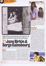 JANE BIRKIN & SERGE GAINSBOURG orginal press clipping    28x21cm