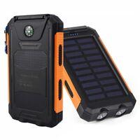 10000mAh Dual USB Portable Solar Power Bank