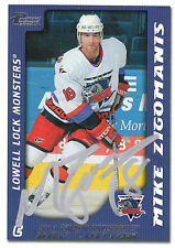 MIKE ZIGOMANIS LOCK MONSTERS AUTOGRAPH AUTO 03-04 PACIFIC AHL #44 *25759