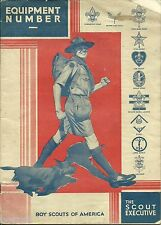 BOY SCOUT - OCTOBER 1930 SCOUT EXECUTIVE - EQUIPMENT CATALOG