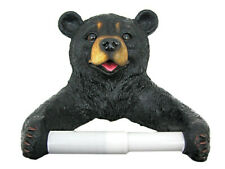 NWB Cute Black Bear Cub Toilet Paper Roll Holder Nature