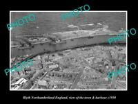 6x4 HISTORIC PHOTO OF BLYTH NORTHUMBERLAND ENGLAND THE TOWN & HARBOUR c1930 3