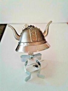 Norway Viking Helmet Pewter Bottle Stopper,  NEW