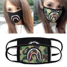 Hot Gift Outdoor Cycling Shark Black Face Mask Camouflage Mouth-muffle Women