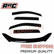 Bonnet Protector & Window Visors Weather for Holden Colorado RG Dual Cab 2012-16