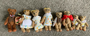 The Littlest Bears Lot Of 8- Babies , Boys, Mom, Grandma, Dad -Family  No Boxes
