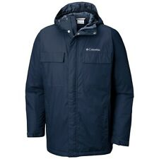 Columbia Ten Falls Waterproof Insulated Jacket Navy Mens Medium New
