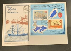 Isle of Man Covers FDC Falkland Islands 1984 Christmas 1982  CV Approx $10
