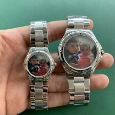 Personalized Custom Quartz Male And Female Watch Stainless Steel Silver