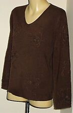 JILLIAN BrownAcrylicStretch3/4SldVneck Size10 NWT