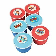 SUPERHERO Wafer Decorations cupcakes cakes sugar free x12
